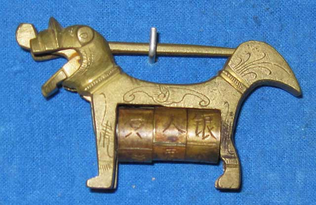Cadeado Chinês Antigo