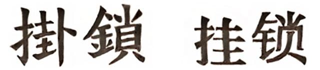 Caracteres Chineses Para a Palavra Cadeado